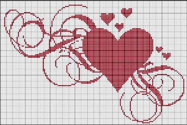 Dia dos Namorados Especial Em Ponto Cruz Com Gráficos87