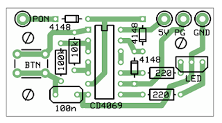 Component outline of PSU start circuit