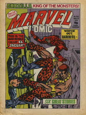 Marvel Comic #343, Daredevil vs El Jaguar