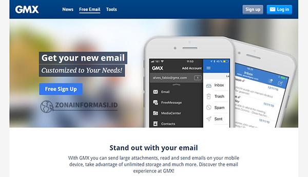 Webmail Gratis dari GMX Mail