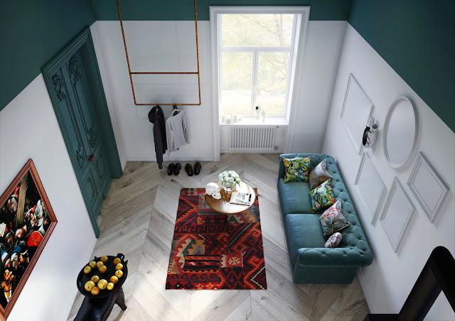 Proiect de amenajare practic și elegant pentru o garsoniera de 30 m²