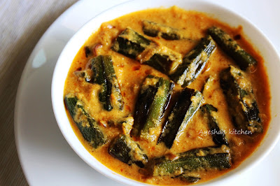 bhindi sayeshas kitchen tasty malabar recipes -sauteed bhindi in tomato curd gravy yummy chapathi or rice  side dish