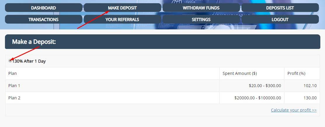 Создание депозита в Integra Trade Limited