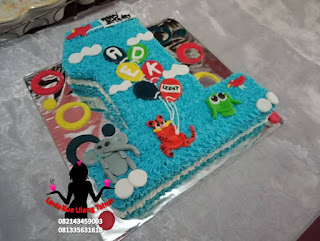 Kue Tart Ulang Tahun Bentuk Angka 1