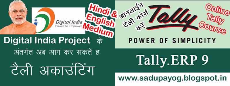 Learn Tally In Hindi Pdf