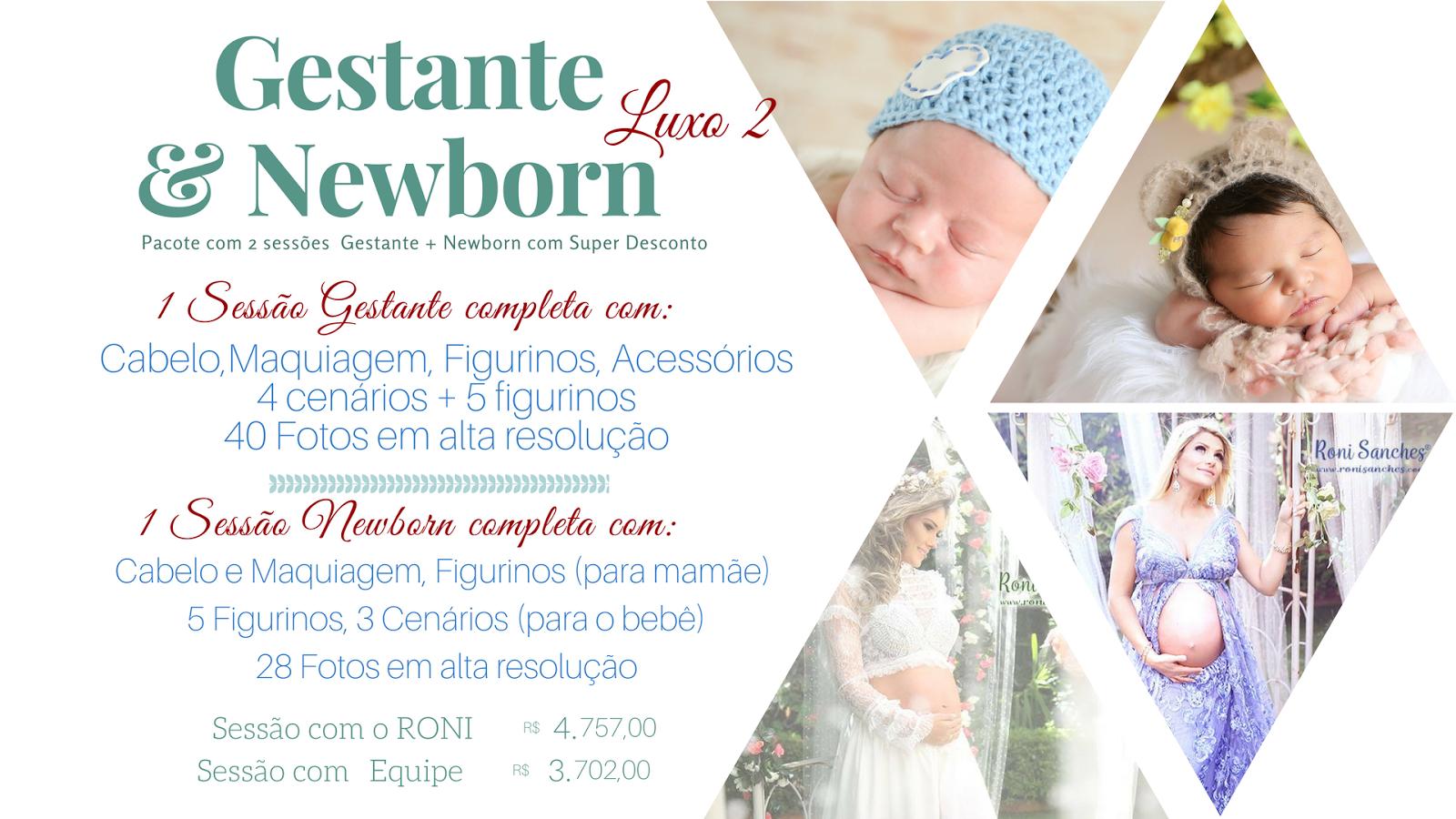 Preço book gestante e newborn