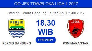 Persib vs PSM Makassar: Maung Bandung Tanpa Striker