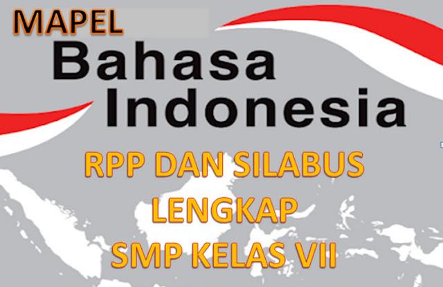 RPP dan Silabus Bahasa Indonesia Kelas 7 K13 Lengkap