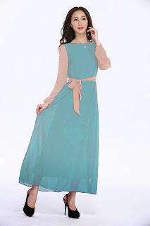 dress muslimah online malaysia baby blue