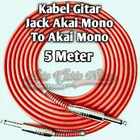 kabel gitar 5 meter jack akai mono to akai mono kabel technica javejuan