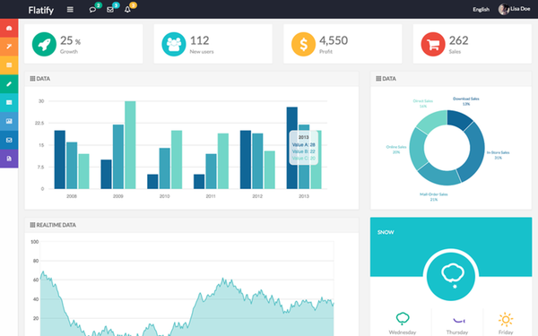 Download Flatify - Responsive Admin Web App - Download Bootstrap ...