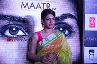 Bollywood Actress Raveena Tandon in Transparent Green Saree at Trailer Launch Of Film Maatr  0036.JPG
