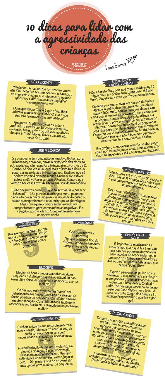 10 dicas para lidar com a agressividade das crianças - 1 aos 5 anos