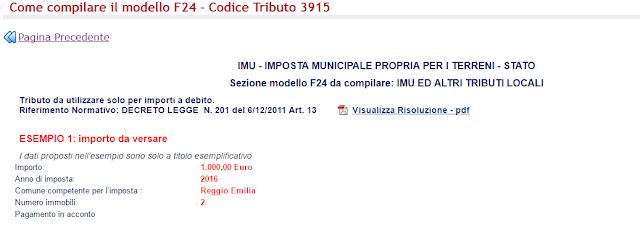 Codice tributo 3915