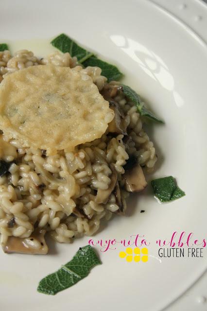 Easy Gluten Free Mushroom Risotto from Anyonita-Nibbles