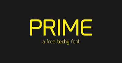 prime is a free techno font