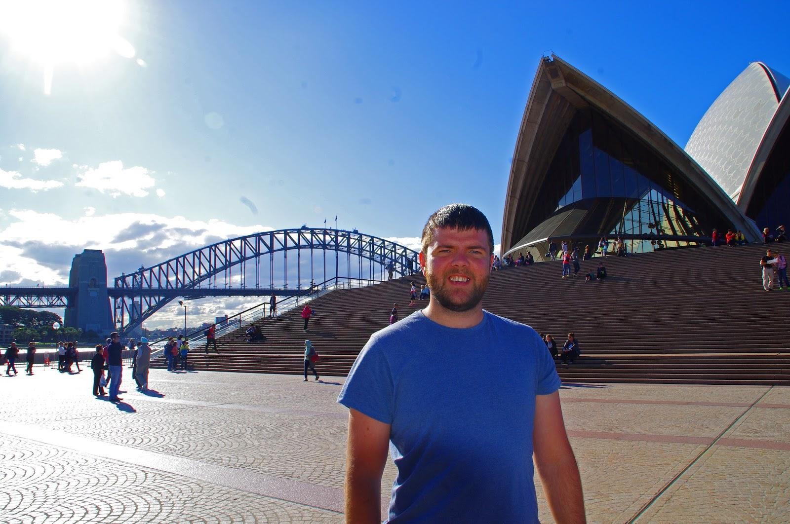 Dan at Sydney opera house