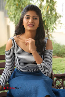 Telugu Actress Roshini Prakash Stills Short Dress at Saptagiri Express Release Press Meet  0109.JPG