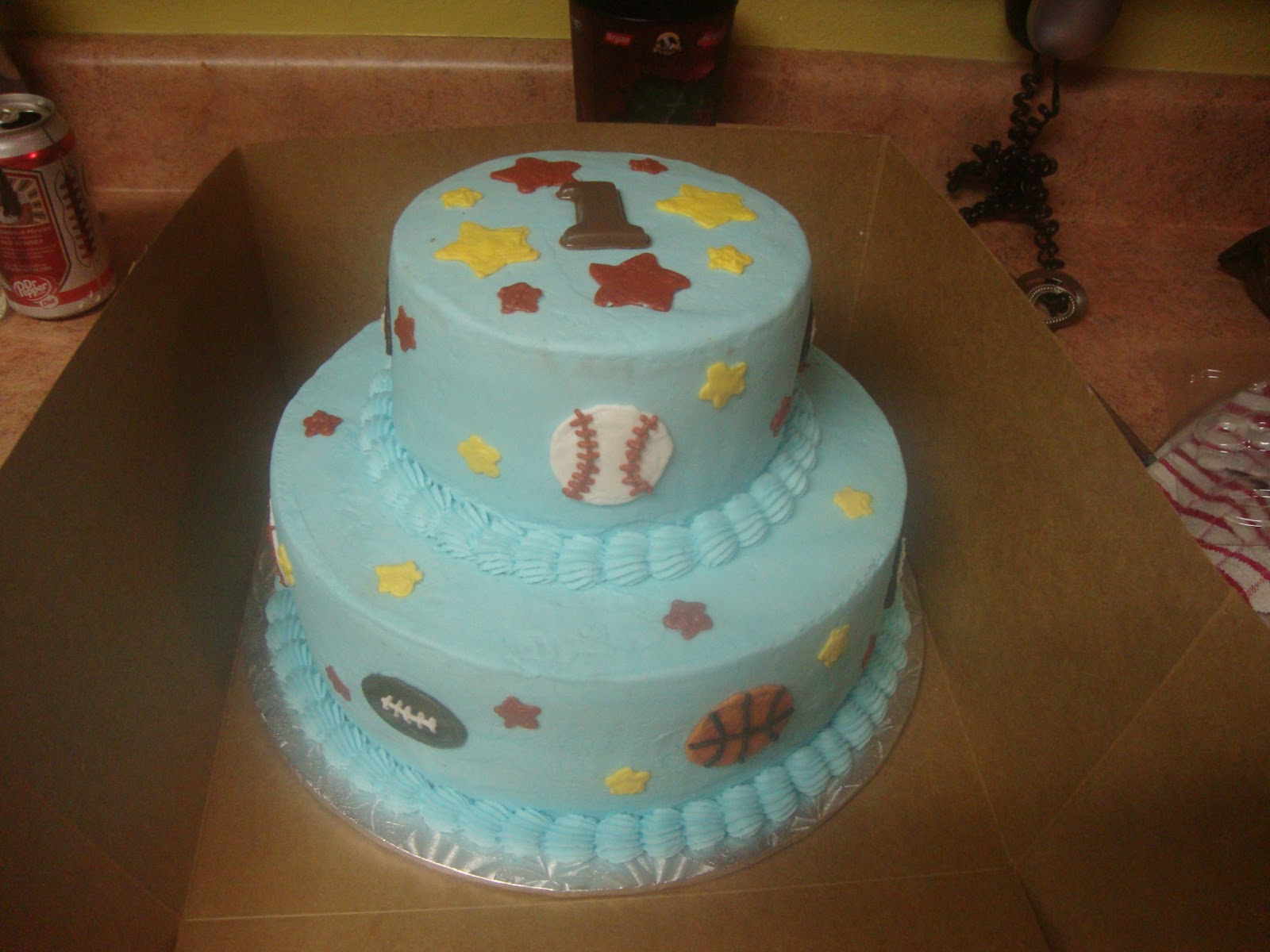 Charity's Sunshine Sweets: BABY BOY'S 1ST BIRTHDAY CAKE