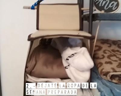 organiza ropa semanal