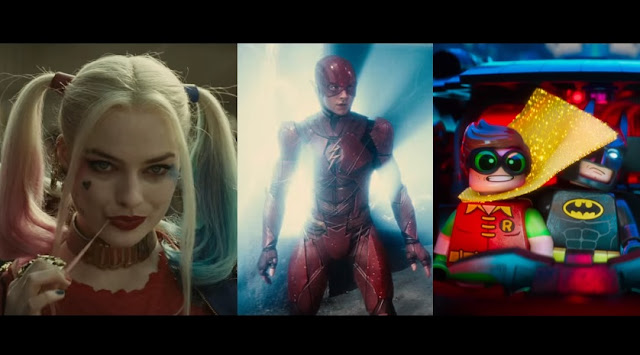 warner dc comic con trailers stills
