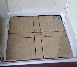 Tiles laid