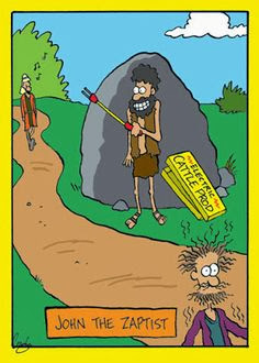 Funny John the Baptist Zaptist New Testament cartoon