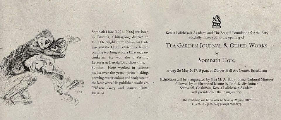 Somnath Hores Tea Garden Journal Other Works Comes To Kochi