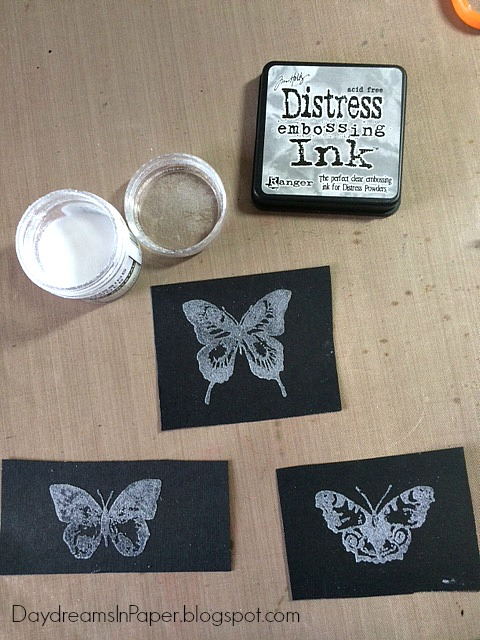 daydreams in paper fly tim holtz 12 tags of 2016 chalking technique