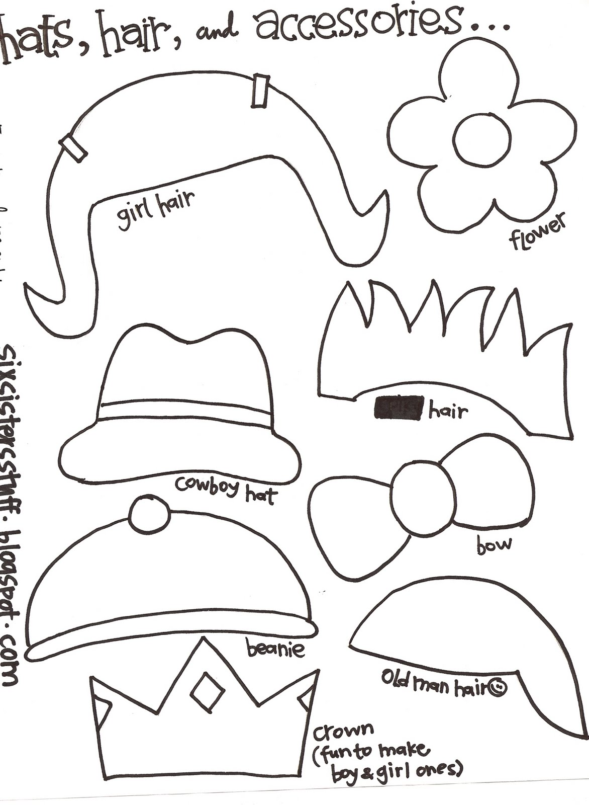 mosnter template - make your own monster puppets printable pattern six