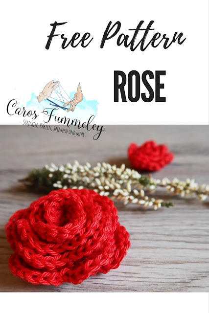 Free crochet pattern rose - summer diy