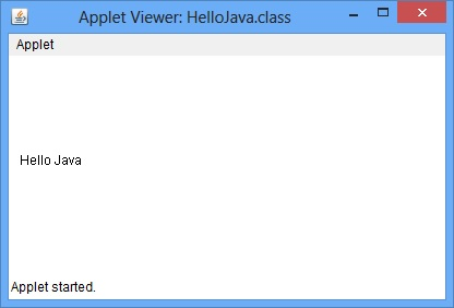Java Applet Example