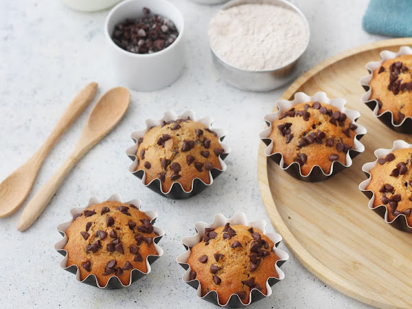 Tortine integrali con cioccolato senza burro