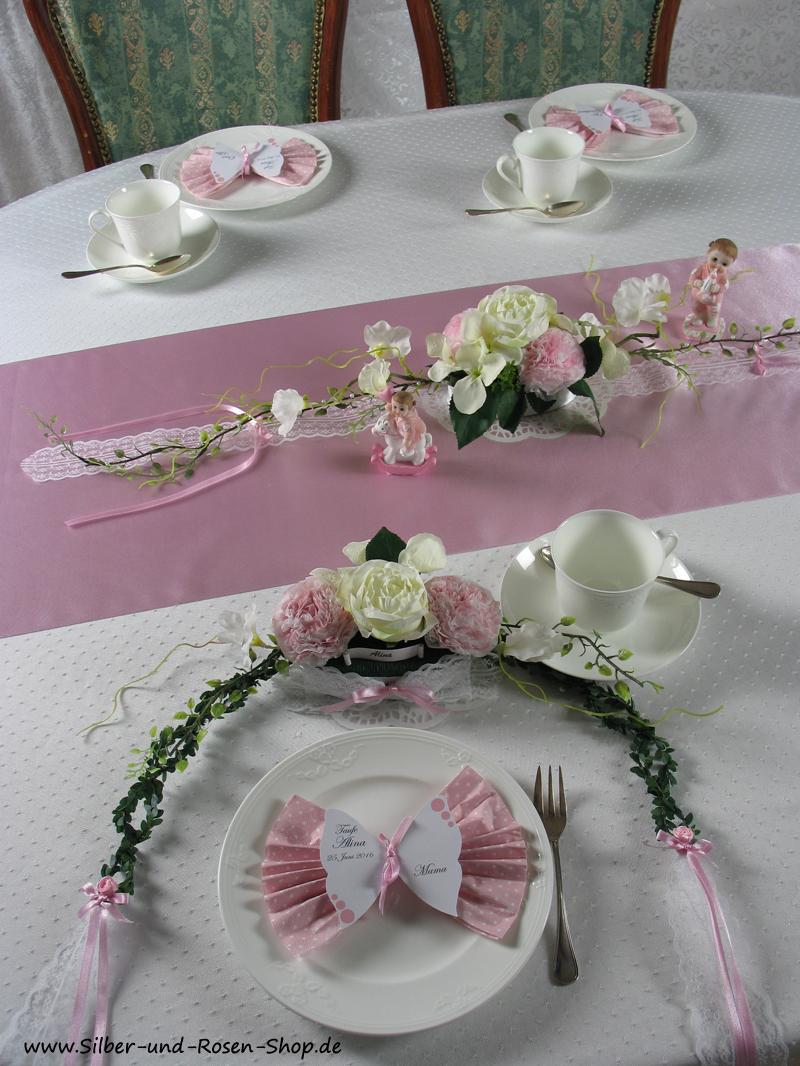 silber neues im silber und rosen shop baby tischdeko t rkis blau oder rosa. Black Bedroom Furniture Sets. Home Design Ideas