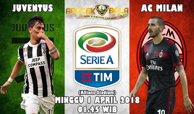 Prediksi Juventus vs AC Milan 01 April 2018