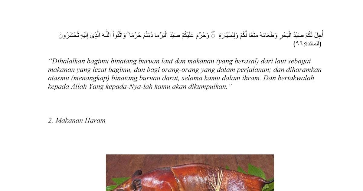 Makanan Minuman Halal Dan Haram Beserta Dalilnya