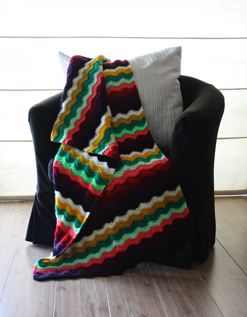 Ripple stitch blanket