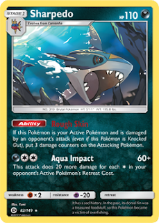 Sharpedo Sun and Moon Pokemon Card