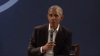 YouTube screenshot of Barack Obama responding to Akkai Padmashali's question.