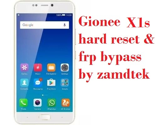 Gionee X1s hard reset, pattern removal and frp bypass