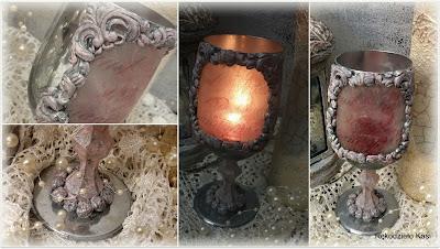 Lampion z kieliszka