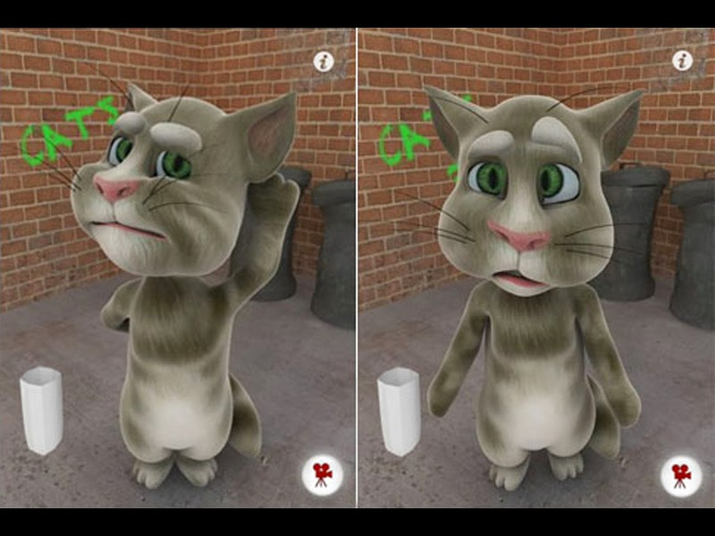 Talking tom free android fun cat application download ~ Downloading
