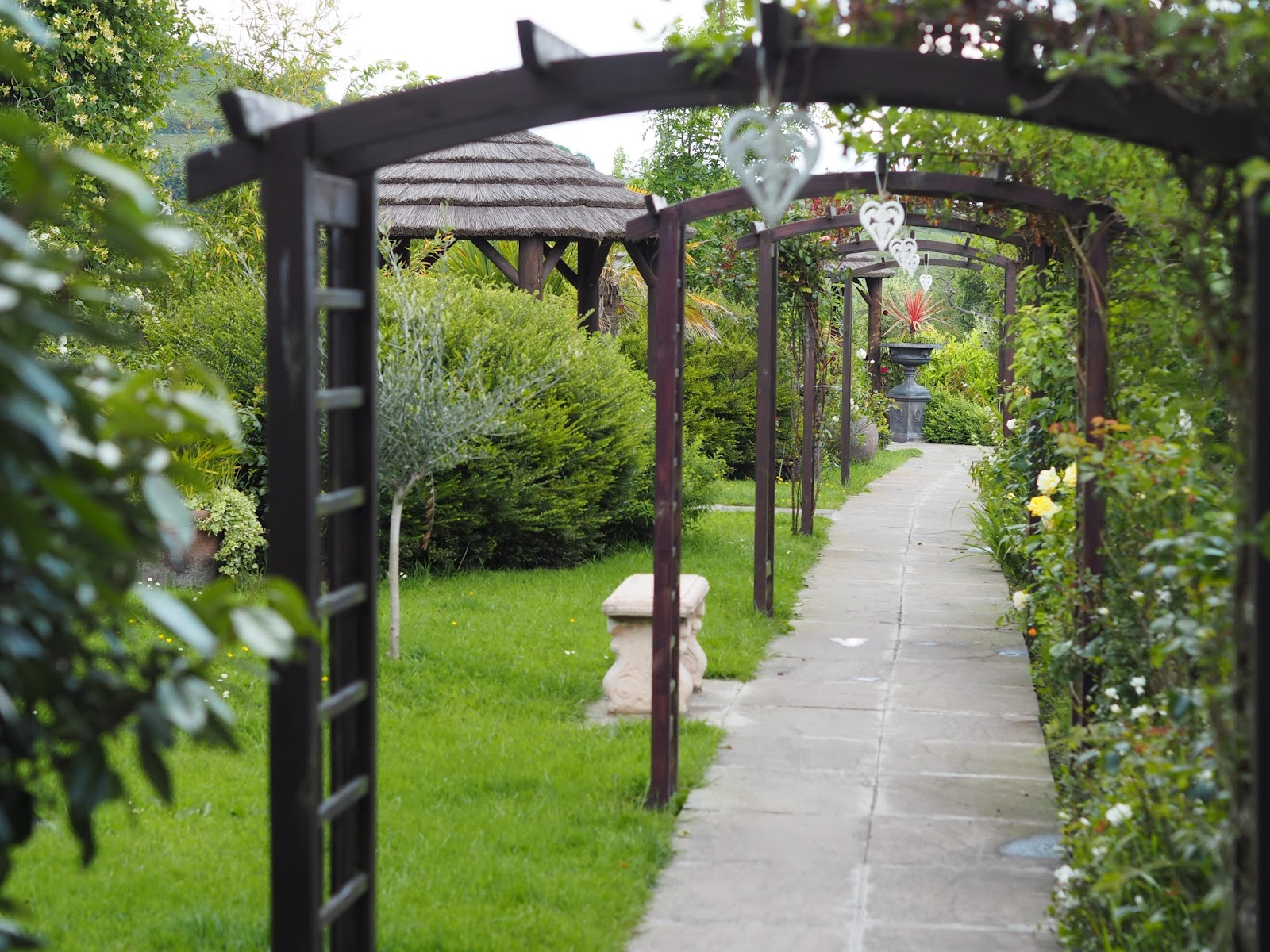 Wedding Walkway path Ox Pasture Hall Country Hotel, Scarborough, Yorkshire, romantic hotel near beach in Scarborough