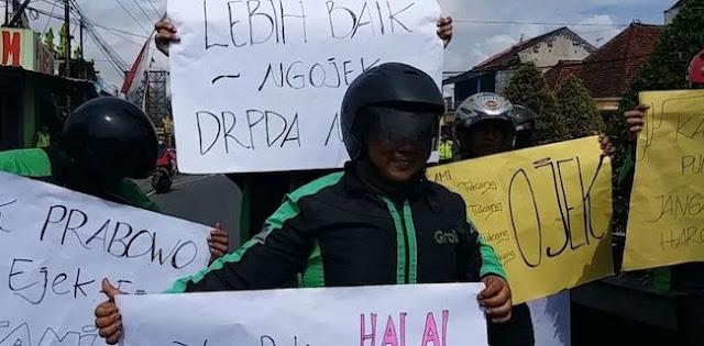 Paguyuban Ojol Blitar: Pendemo Prabowo Ojol Gadungan