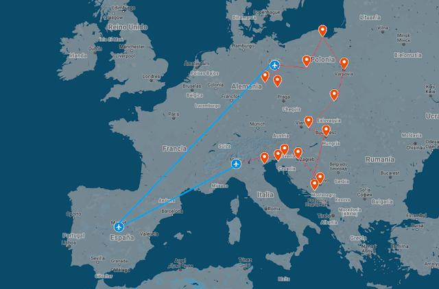Itinerario de interrail por Europa de Preparar Maletas