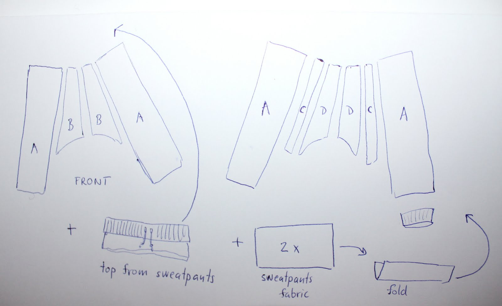 harem pants template - from now till then and in between harem pants pattern