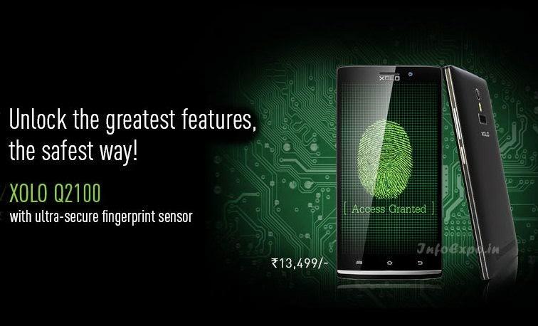 XOLO Q2100: 5.5-inch,1.3 GHz Quad Core ,Fingerprint Sensor, Android Smartphone Specs, Price