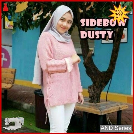 AND310 Sweater Wanita Rajut Sidebow Dusty Premium BMGShop