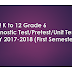 NEW! K to 12 Grade 6 Diagnostic Test/Pretest/Unit Test for First Semester