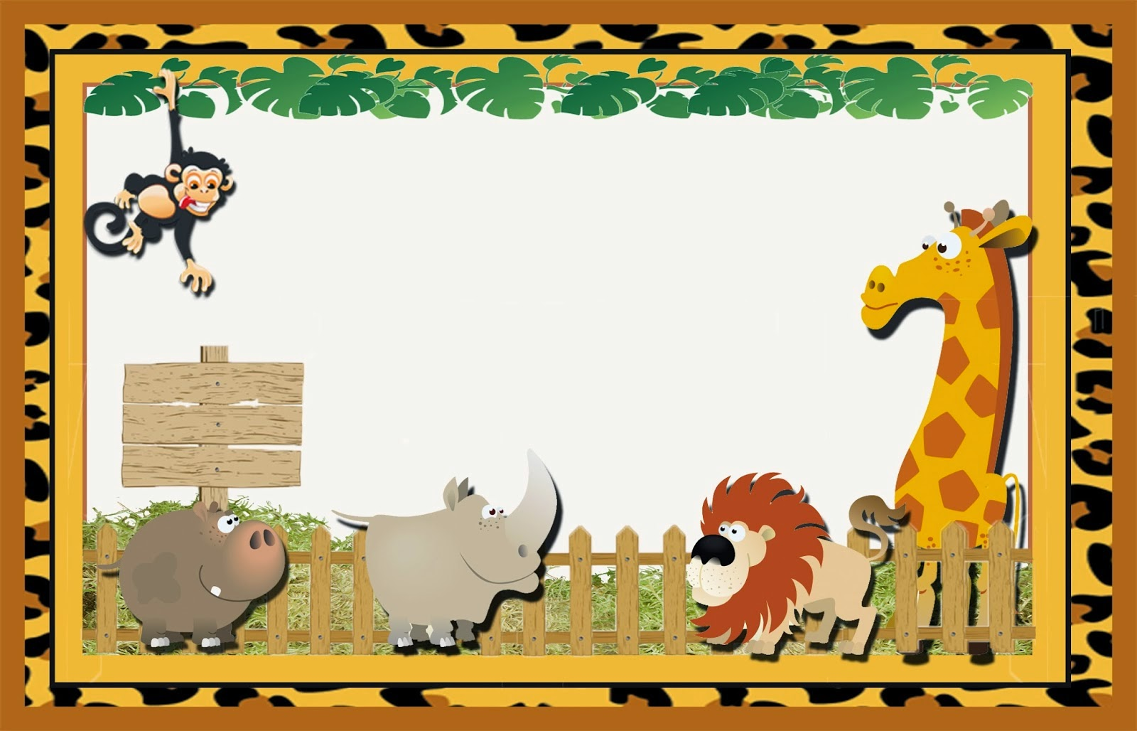 Cute The Jungle: Free Printable Invitations, Labels Or